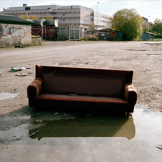 One of the many Badsofas at Arenastaden, Solna. October 2007.