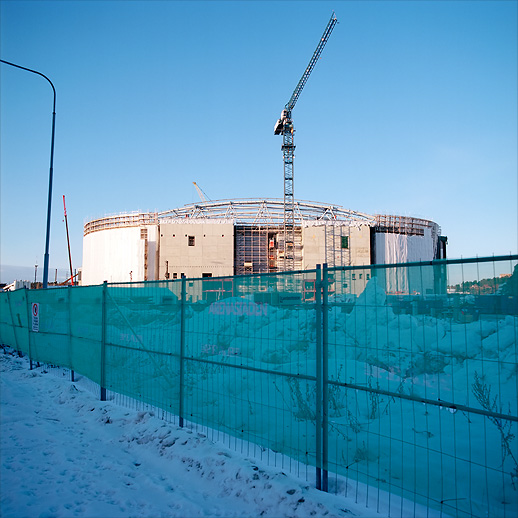 Main structure of the Friends Arena. Arenastaden, Solna, January 2011.