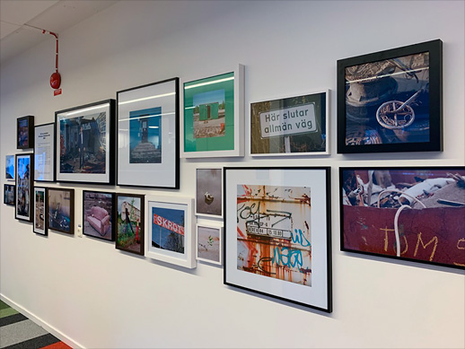 Arenastaden photo exhibition at the Fabege Stockholm office.