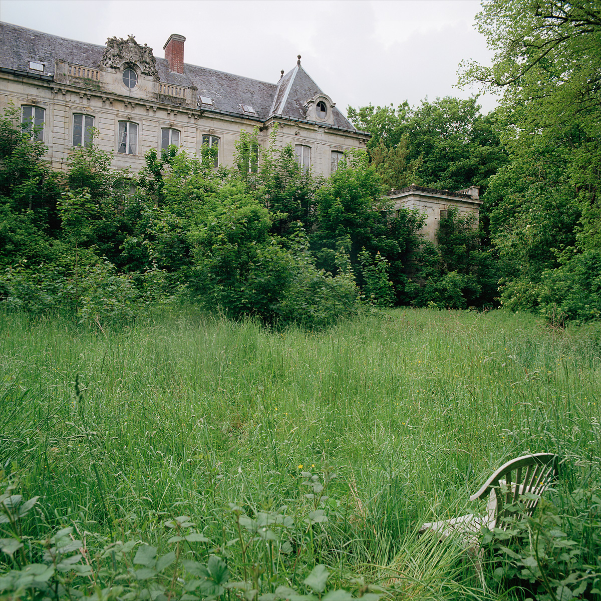 Have a seat and enjoy the view of growth reclaiming at Château Chevalier Croquis. France.