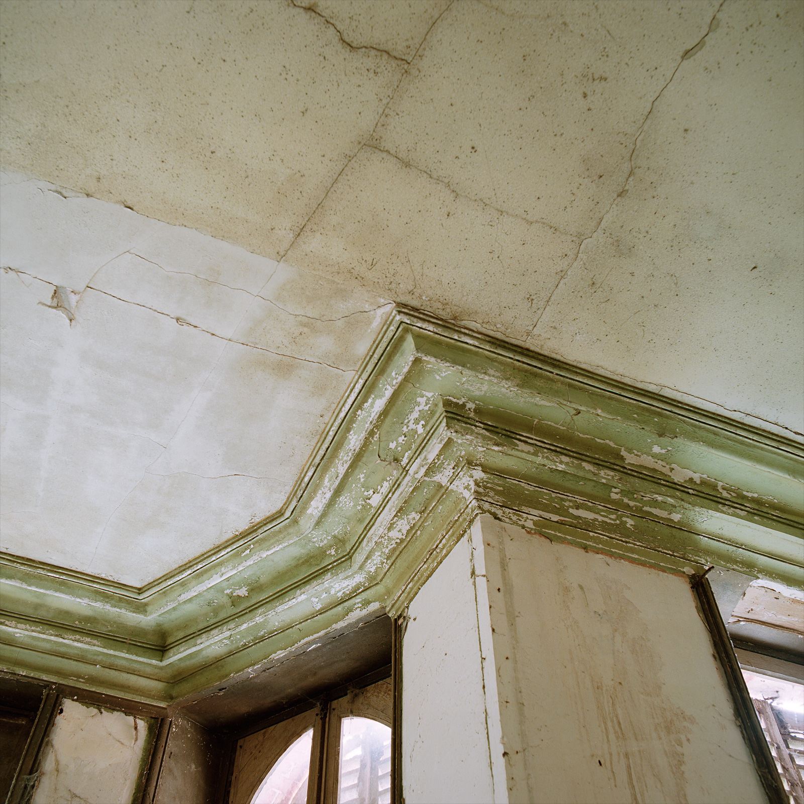 Moulding on the ground floor at Château Fossé, France.