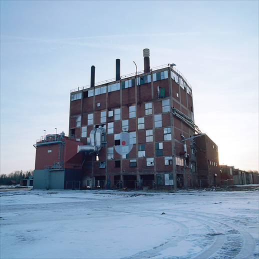 The boiler house. Possibly the most iconic of the factory structures at Karlit. Karlholmsbruk, Uppland, Sweden. January 2017.