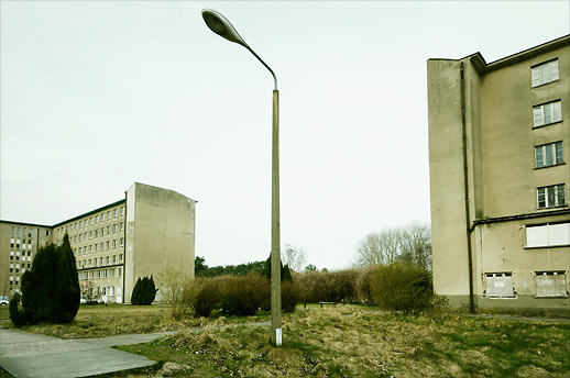 My first encounter with the classic DDR street lamp. Seebad Prora. Rügen, Germany. March 2008.