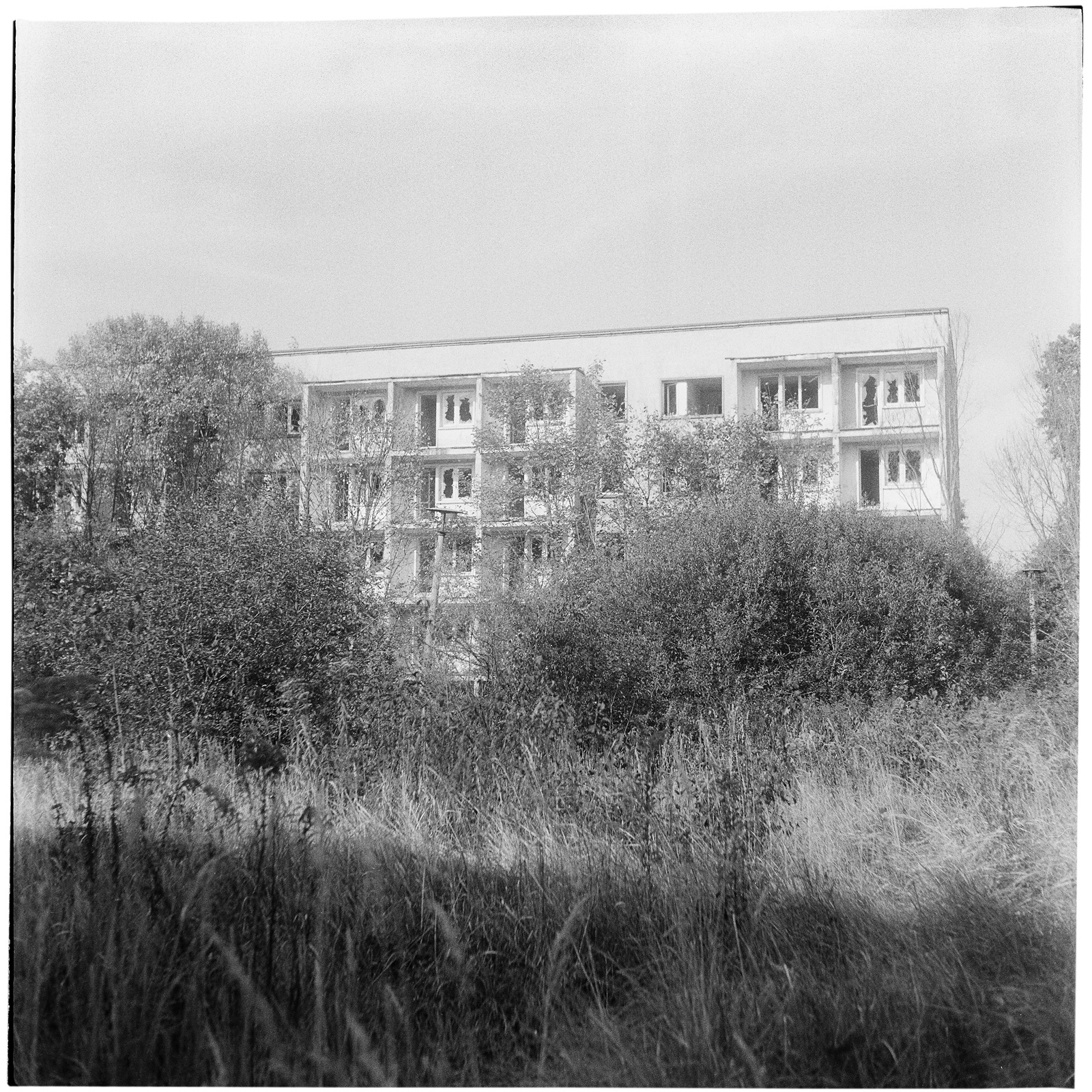 Flats. Probably for the officers and their families. Soviet Military Base SW. Former DDR, Germany. October 2014.